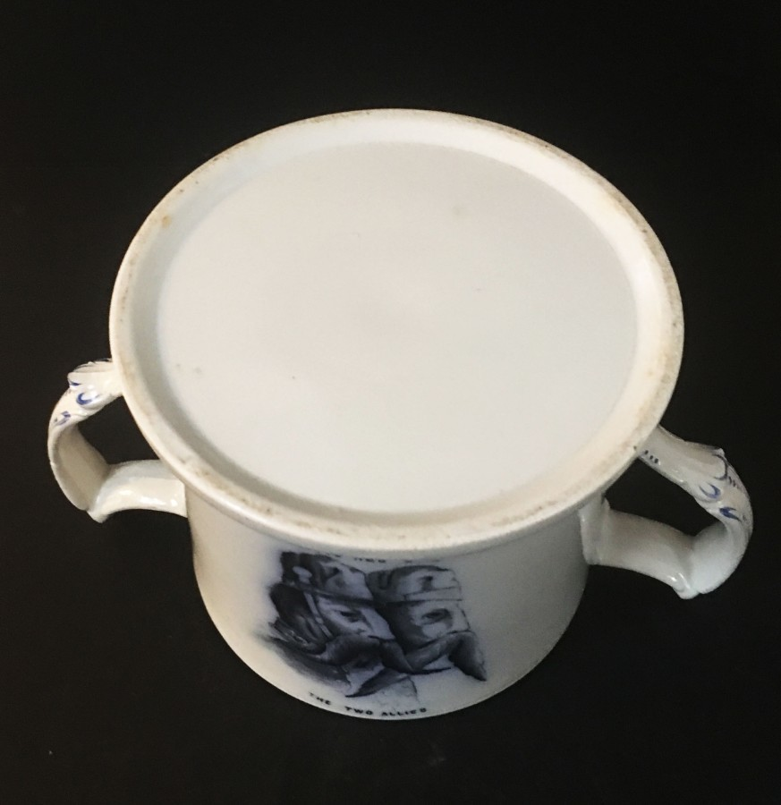 Antique 19th century Staffordshire Crimea war loving cup.