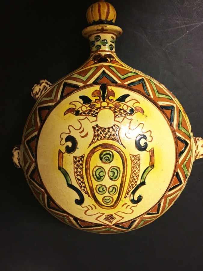 A Pottery Pilgrims flask.