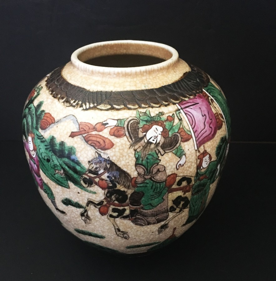 Early 20th Century Chinese crackle glaze ginger jar.