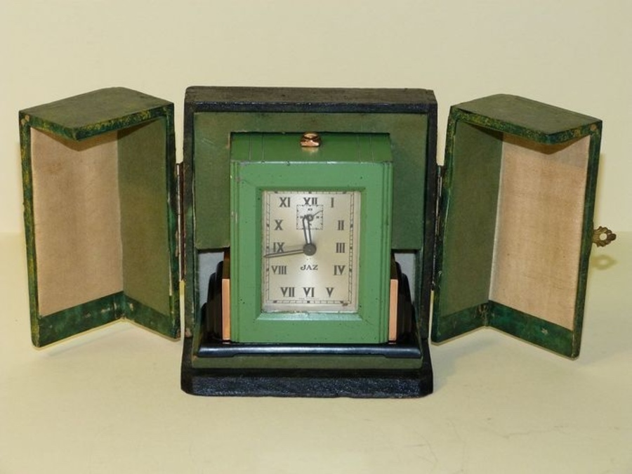 JAZ – Art Deco Styal Travel table clock.