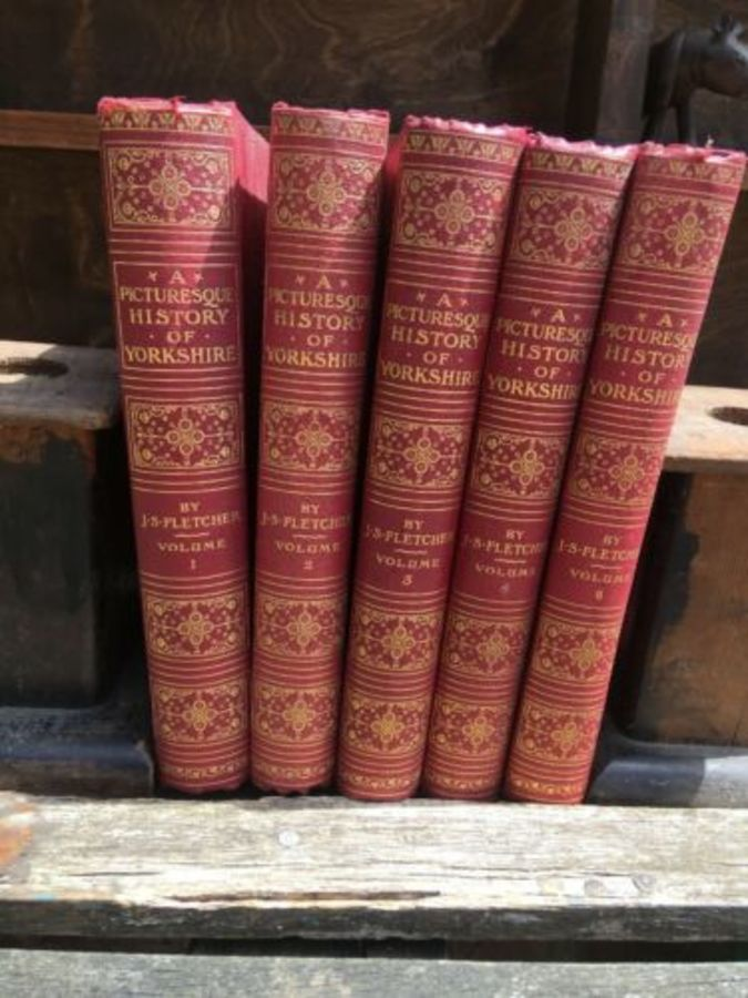 Vintage Book Set 'Picturesque History Of Yorkshire' Vol 1-4 & 6