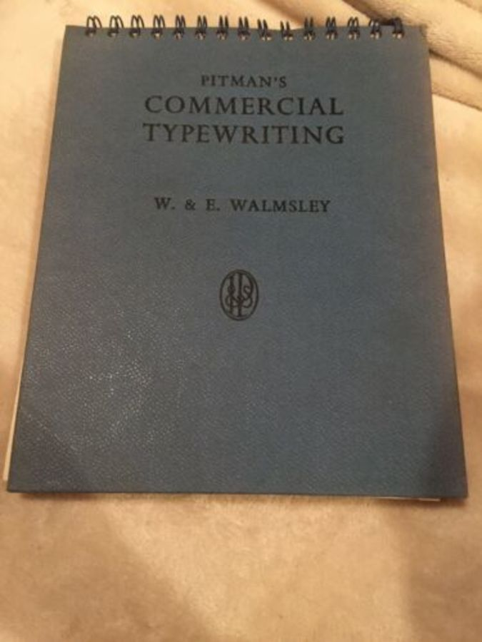 2 X Pitmans Commercial Typewriting Book And Noted