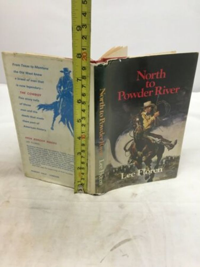 Vintage Book 'North To Powder River' By Lee Floren 1st Uk Edition 1983