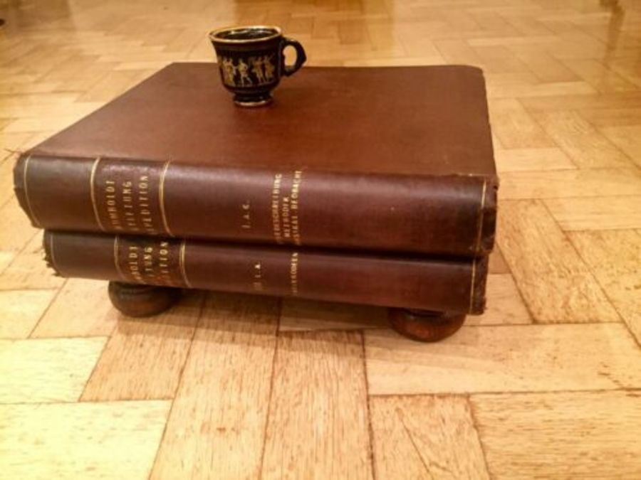 Beautiful Coffee Table Grand Sized Expedition Leather Books 1906   Plates 1906
