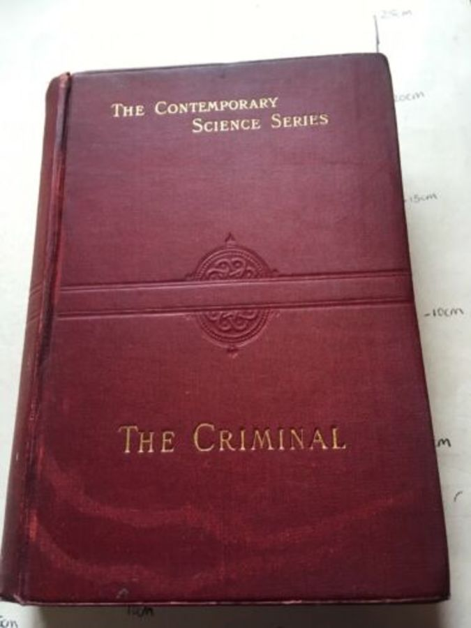 Vintage Book 'The Criminal' By Havelock Ellis 1910