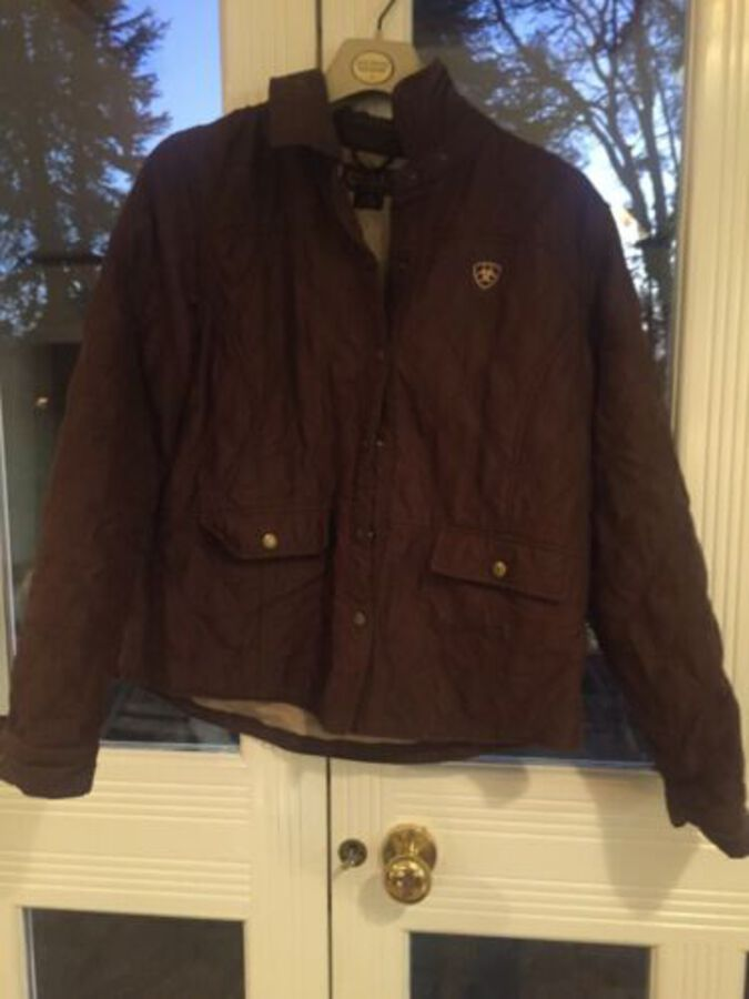 Ariat L G Brown Jacket Great Condition