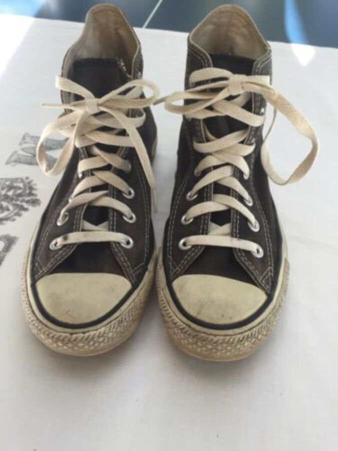 CONVERSE UK Size 5 Black All Star Shoes