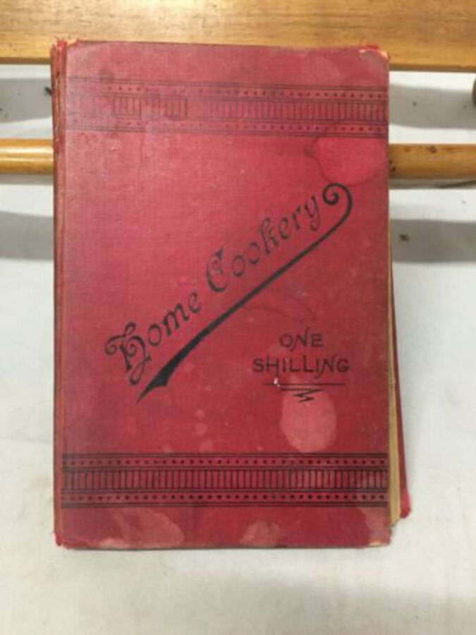 Rare Home Cookery Book 1898 2nd Ed North Midland School Cookery London