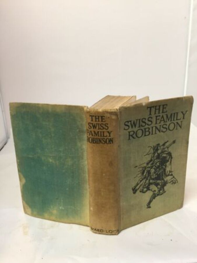 Vintage Book 'The Swiss Family Robinson Cloth Collectable Ward Lock & Co