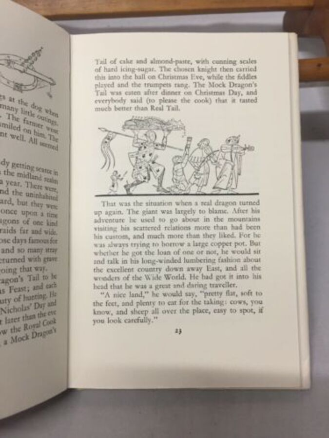 Antique Farmer Giles Of Ham J R R Tolkien P D Baynes  10th Ed 1973 Dust Jacket Great