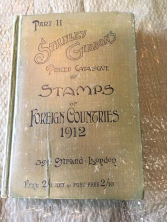 Beautiful Rebound Stanley Gibbons Stamps Foreign Countries 1912 22Ed E B Evans