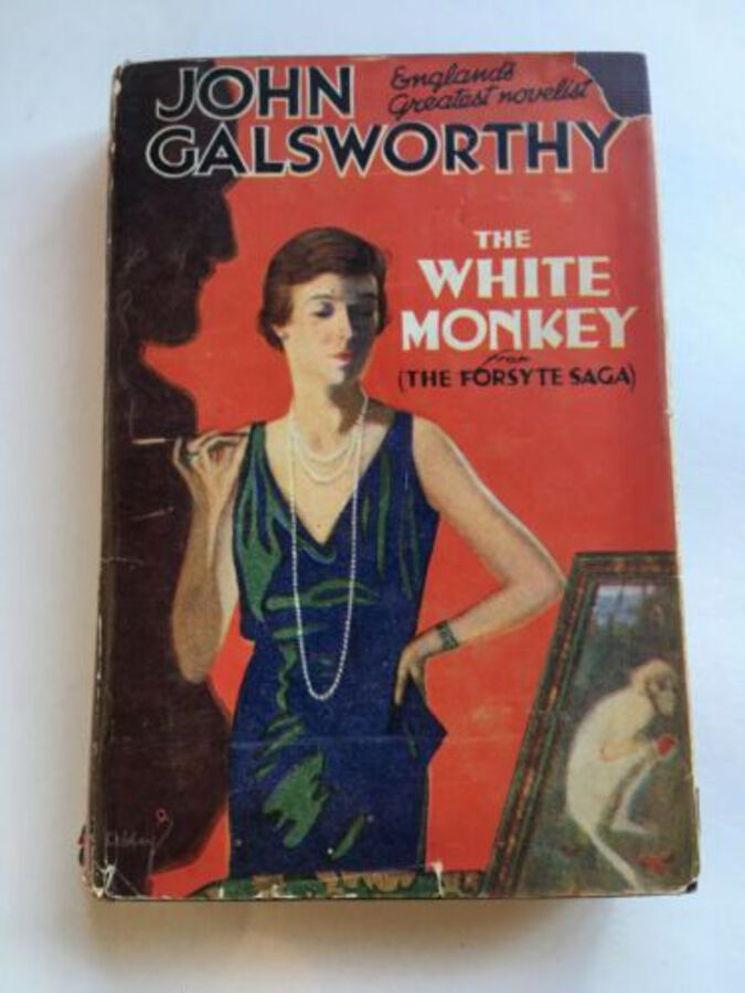 Vintage Book 'The White Monkey John Galsworthy We Collins Sons Rare