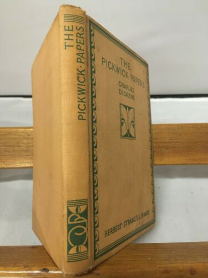 The Pickwick Papers Charles Dickens Copyright Edition Good Cond Cloth Book 1935