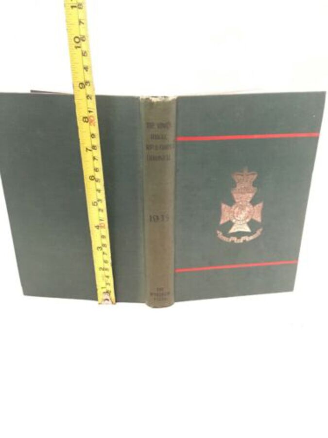 Vintage Book 'The Kings Rifle Corps Chronicle' 1935