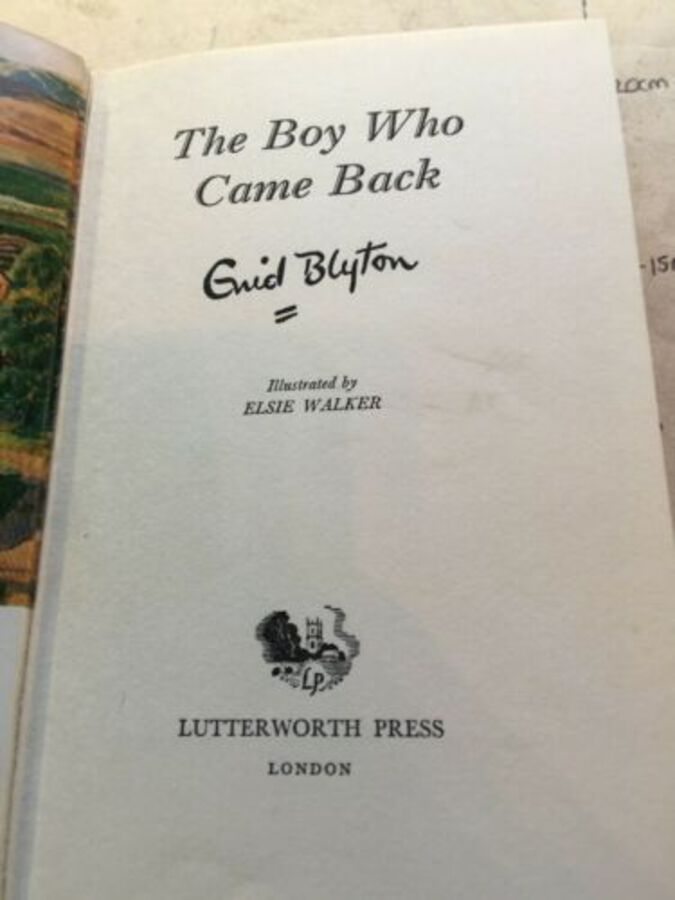 Antique Vintage Book 'The Boy Who Came Back' By Enid Blyton 1965 1st Edition