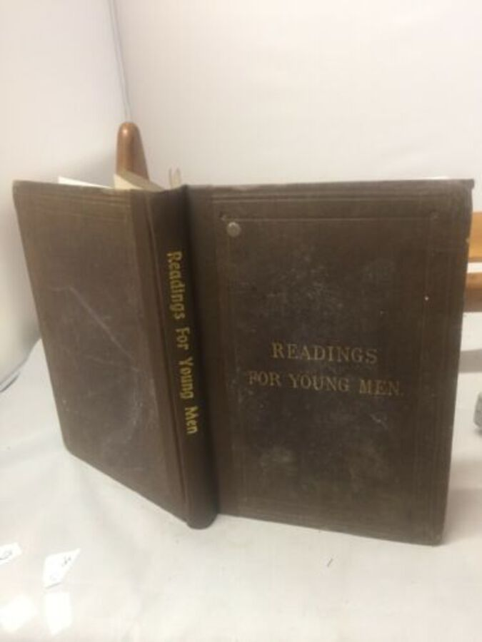 Readings For Young Men, Merchants And Men Of Business 1885 London Rebound Book