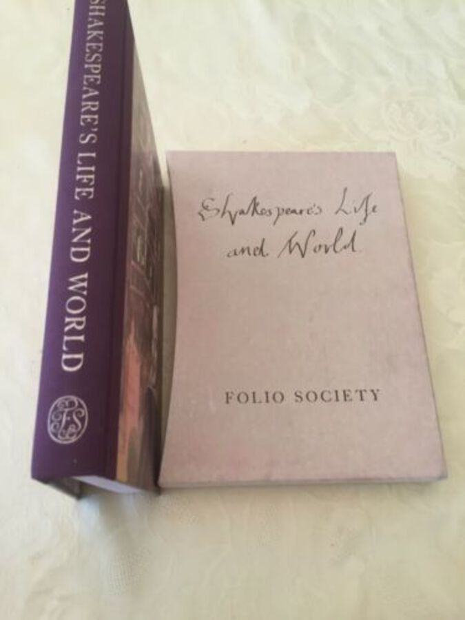 Shakespeare's Life And World Folio Society 2004 Hardback With Case