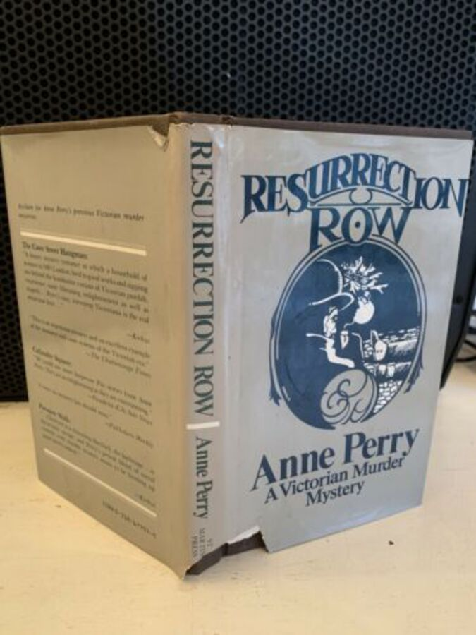 Resurrection Row Author Anne Perry A Victorian Murder Mystery 1981 1st Ed