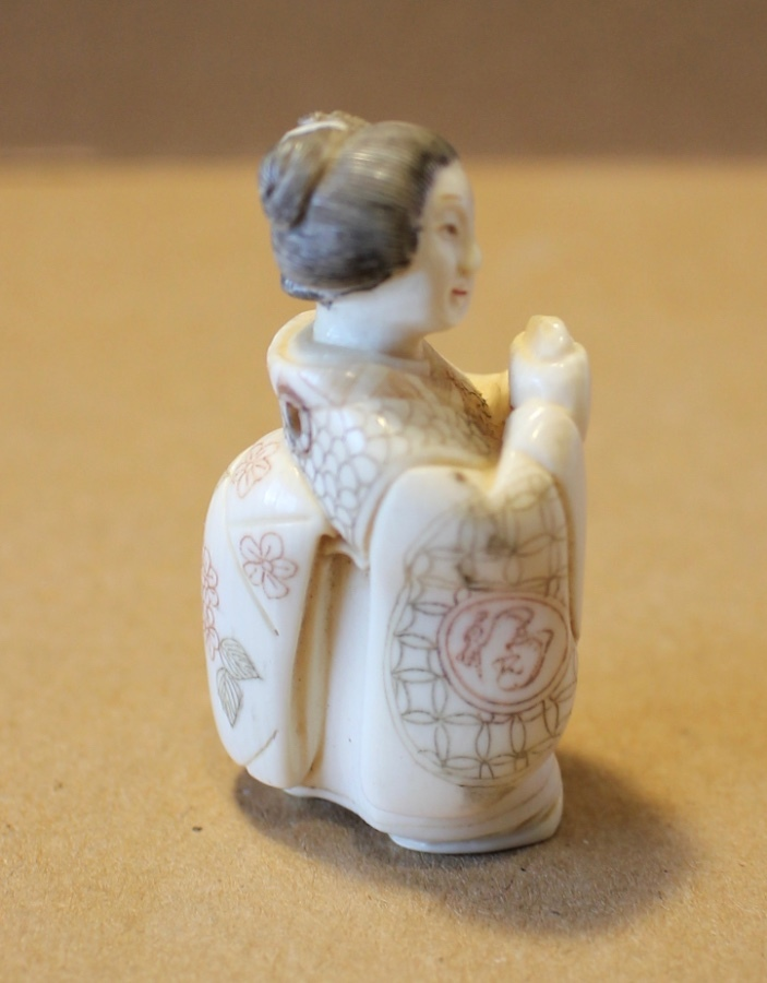 Antique 19th Century Meiji period Japanese hand carved Ivory Netsuke