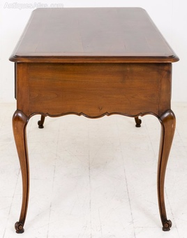Antique French Cherry Wood Side Table