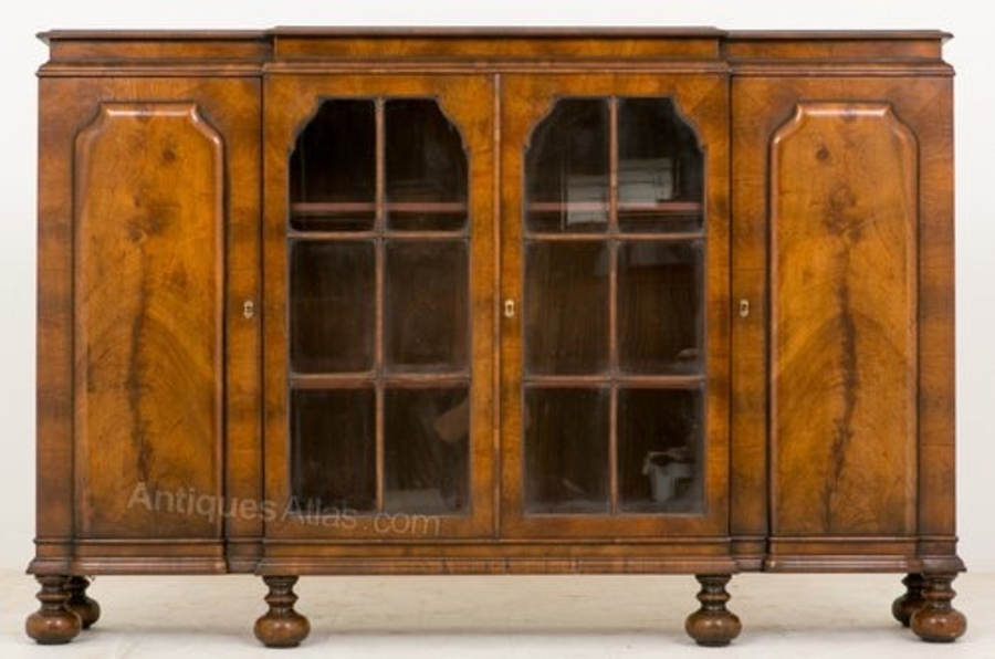 William and Mary walnut side cabinet