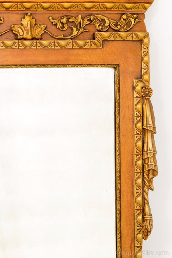Antique Stunning George 1 style Walnut and Gilt Hall Mirror