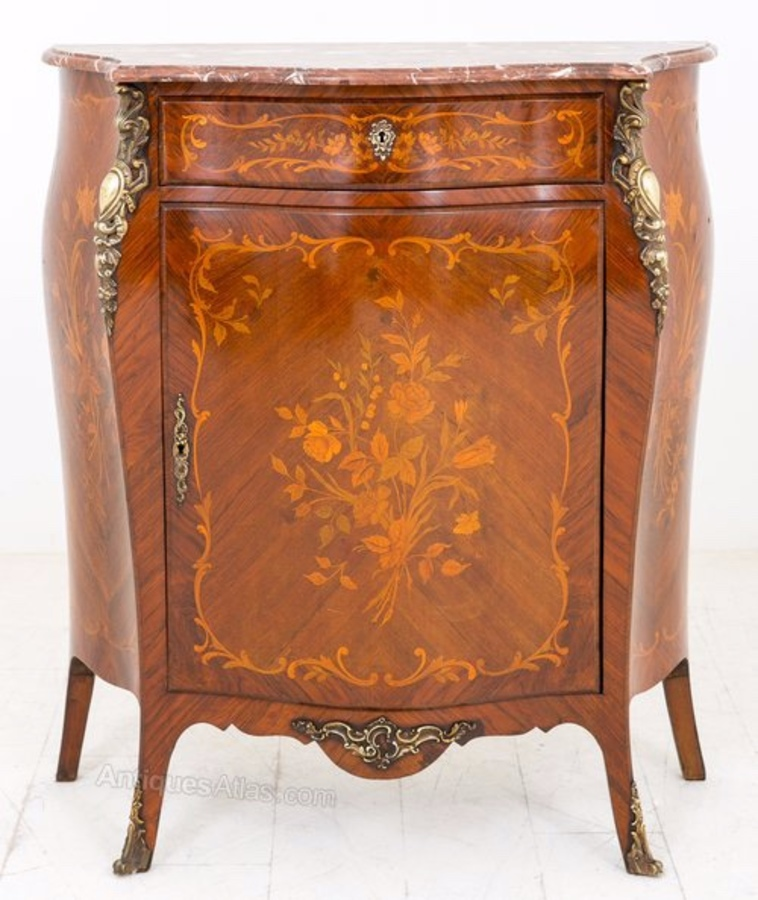 French Marquetry Side Cabinet