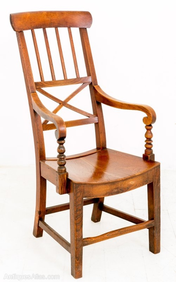 Rare Elm Country Chair
