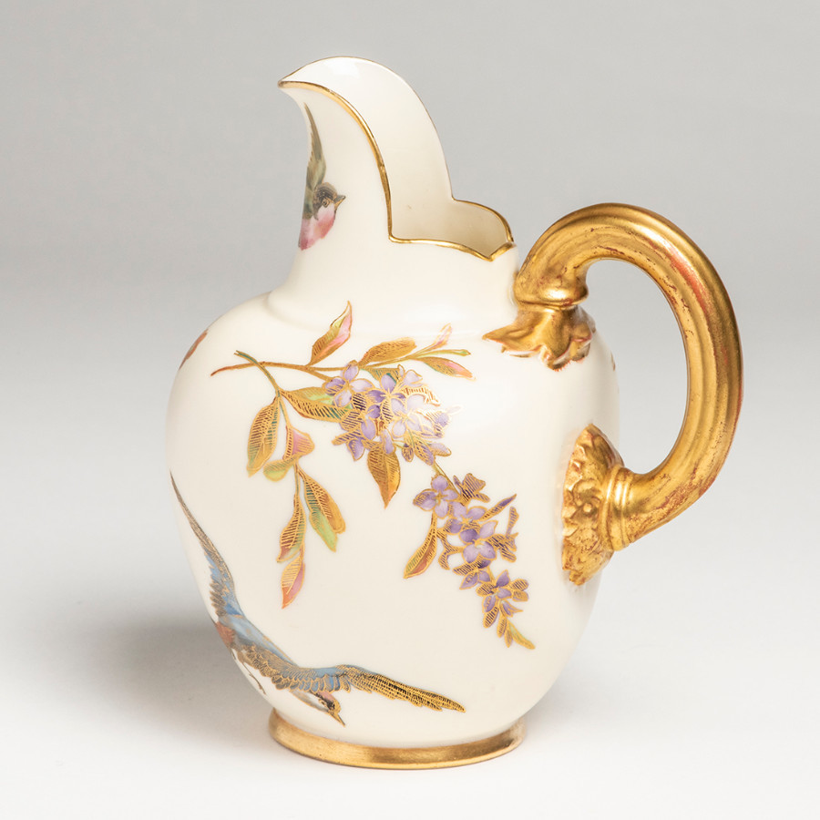 Royal Worcester Flat Back Jug c1887