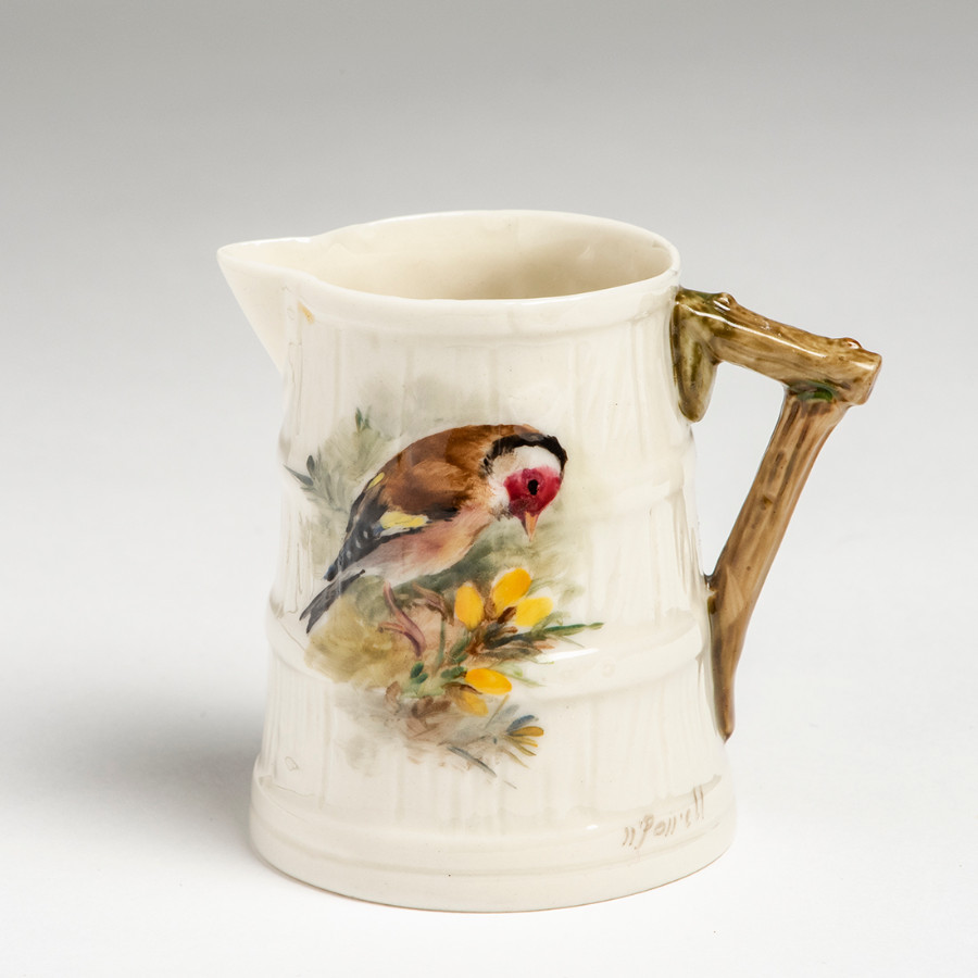 Royal Worcester Hand Painted Barrel Jug c1924