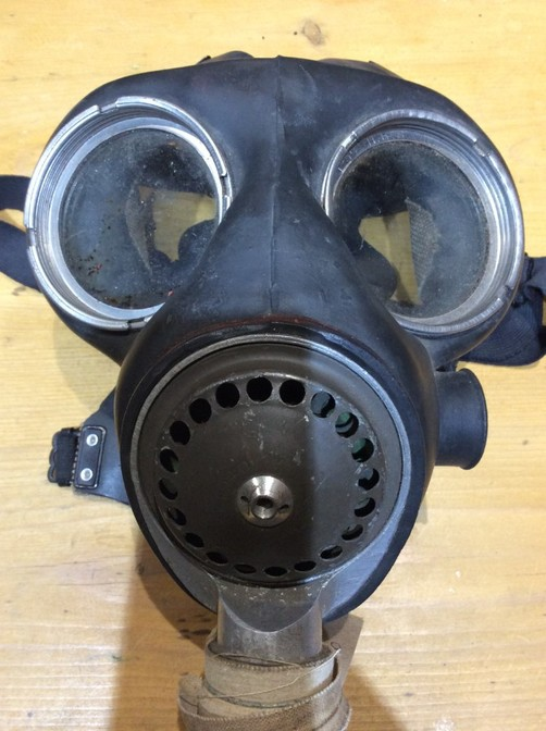 Antique Genuine WWII Gas Mask