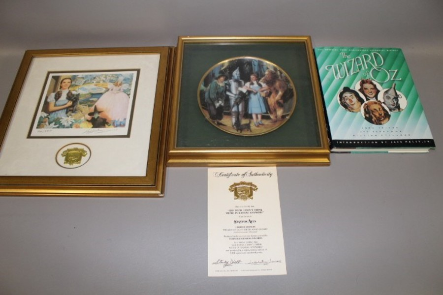 Wizard of Oz Movie Collectables,  Movie memorialbilia for  collector. REDUCED