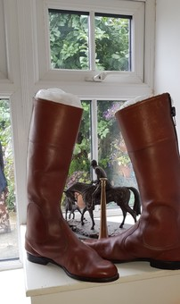 Antique Old Riding Boots