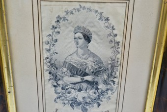 Antique Antique Queen Victoria Silk Portrait Stevengraph I862