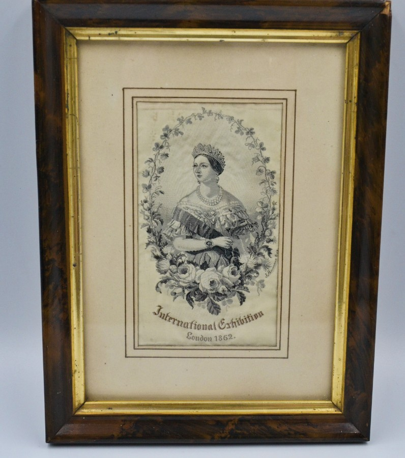 Antique Queen Victoria Silk Portrait Stevengraph I862