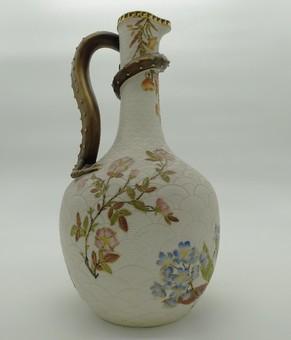 Antique Antique English Porcelain: A Royal Worcester a large & fine Dragon Ewer C.1887