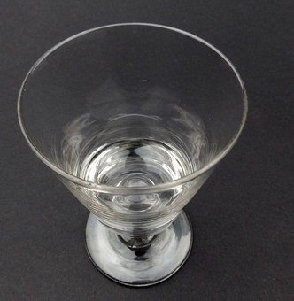 Antique Antique Glass : A heavy small Deceptive Glass Rummer C.19thC