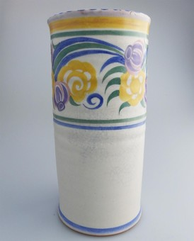 Antique Carter Stabler Adams Poole British Art Pottery large Art Deco Vase C1920-30's