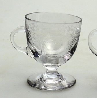 Antique Antique Glass a pair of Edwardian Custard Cups C.early 20thC