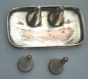 Antique Antique Old Sheffield Plate Extremely rare Georgian double Candle Snuffer Set C. 1790 - 1812