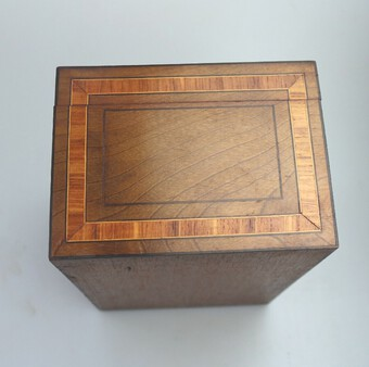 Antique A very pretty, large antique Victorian inlaid & cross banded Box C.19thC