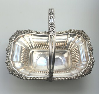 A superior antique Georgian Old Sheffield Silver Plate Basket C.1810-1820