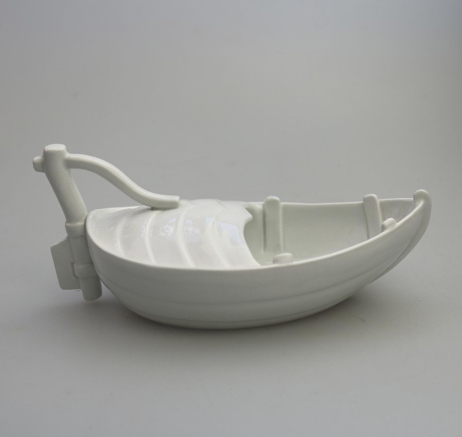 Antique English Porcelain Extremely Rare Minton novelty Gravy Boat Naval C.19thC