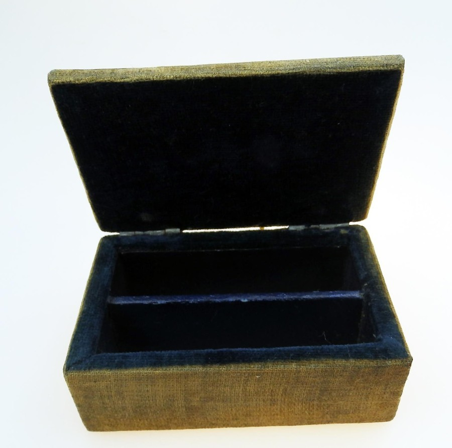 Antique Arts & Crafts Antique Boxes an unusual stud/ring Box with Roundel C.19thC
