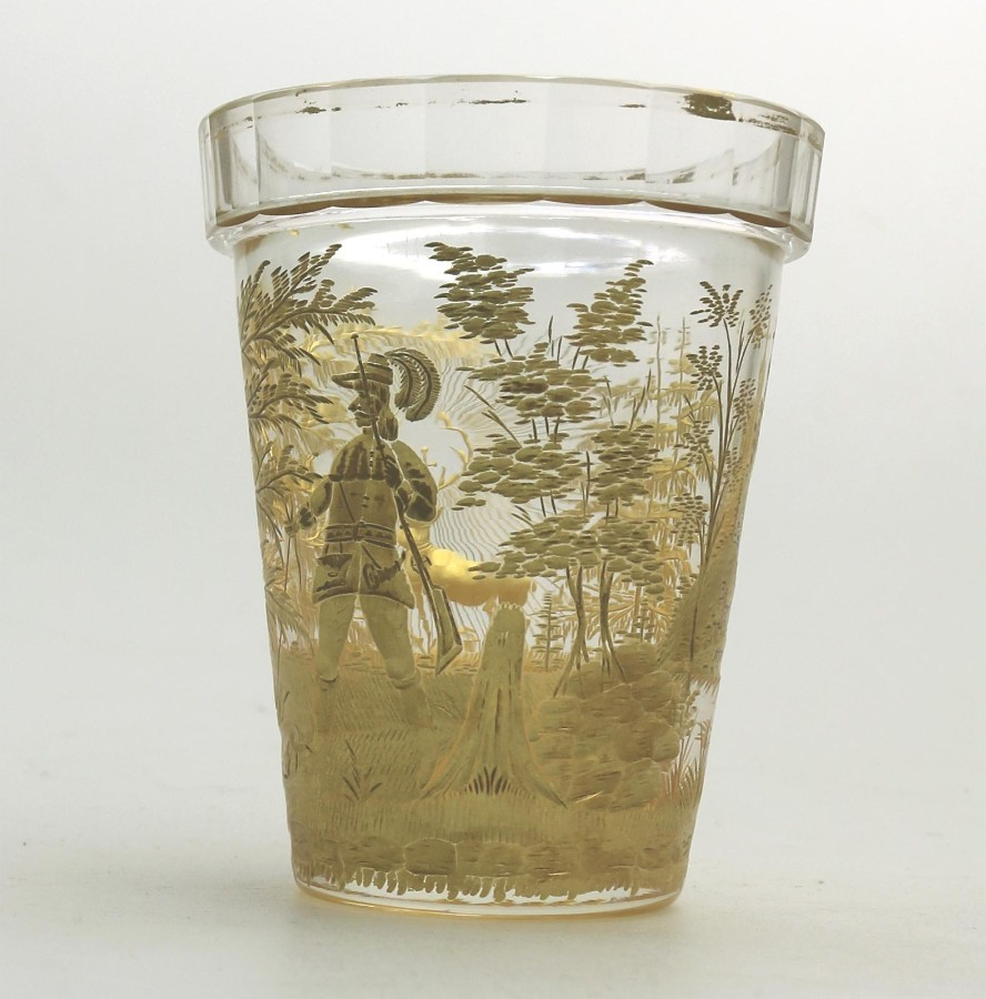 Antique Fine Glass Extremely Rare & Exceptional St Hubert Beaker C.18th/early 19thc