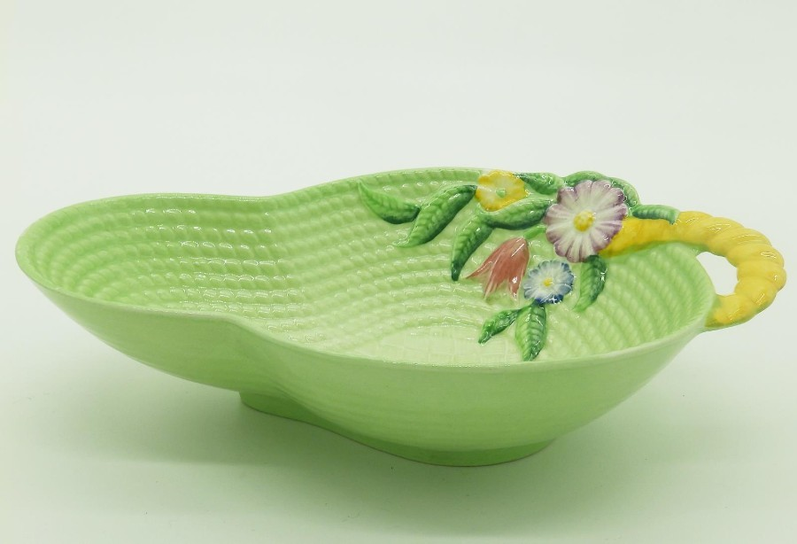 Antique Carlton Ware British Art Pottery Art Deco Ceramics Springtime Bowl C.1925