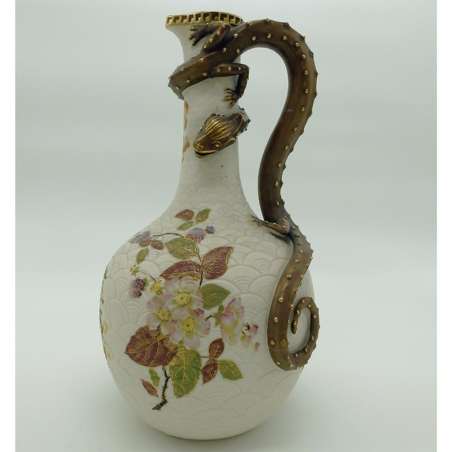 Antique English Porcelain: A Royal Worcester a large & fine Dragon Ewer C.1887