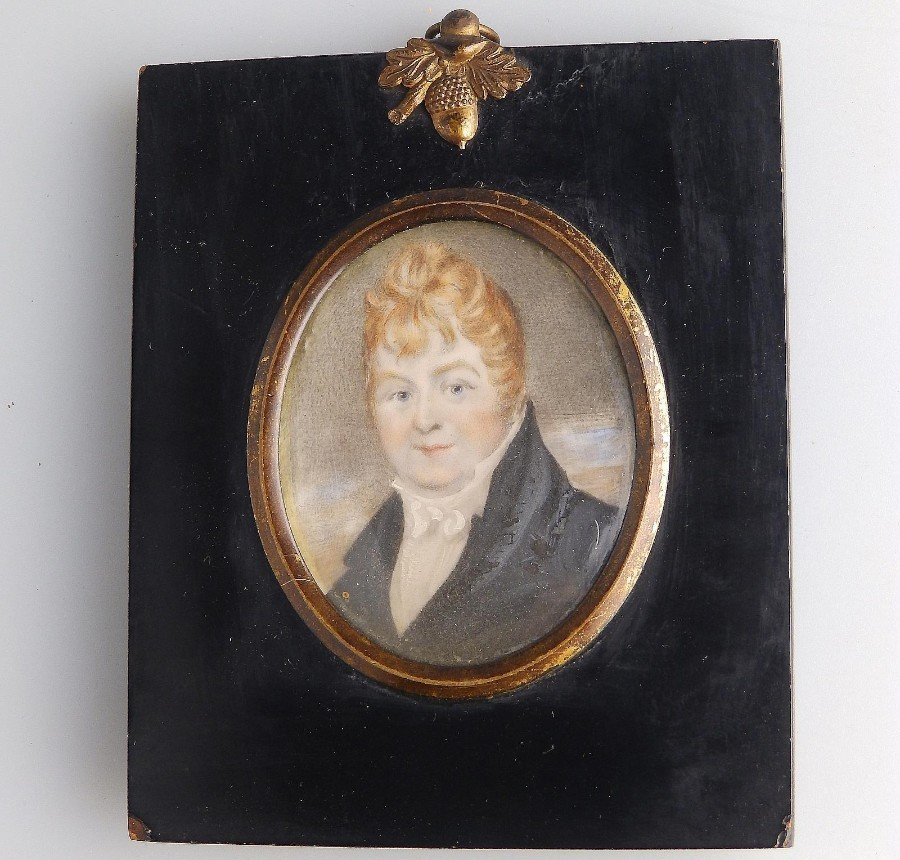 English School Antique Miniature on ivory Of James Penrose C.1800