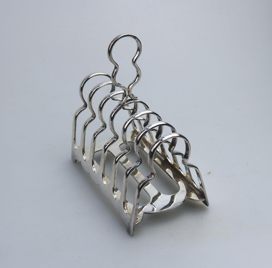Antique Silver Plate : Attractive Toast / Letter Rack James Dixon C.19thC