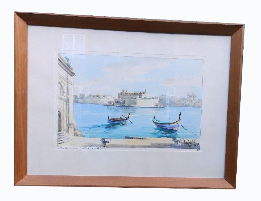 A good Maltese framed Watercolour signed & dated Galea C.1965